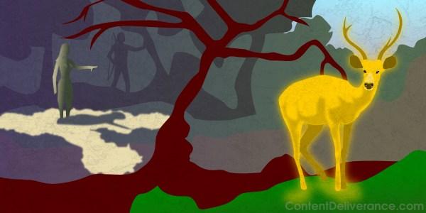 Maricha disguised as a golden deer
